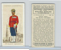 P72-168 Player, Military Un. British EO, 1938, #20 India 7th Rajput Regiment