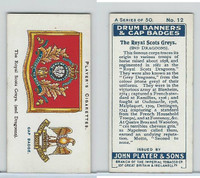 P72-93 Player, Drum Banners, 1924, #12 The Royal Scots Greys