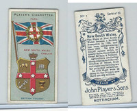P72-29 Player, Countries Arms & Flags, 1912, #1 New South Wales