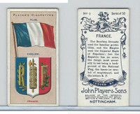 P72-29 Player, Countries Arms & Flags, 1912, #2 France