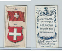 P72-29 Player, Countries Arms & Flags, 1912, #10 Switzerland