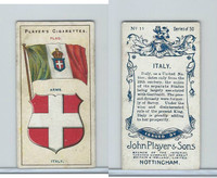 P72-29 Player, Countries Arms & Flags, 1912, #11 Italy
