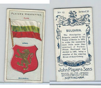 P72-29 Player, Countries Arms & Flags, 1912, #12 Bulgaria