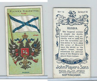 P72-29 Player, Countries Arms & Flags, 1912, #14 Russia