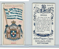 P72-29 Player, Countries Arms & Flags, 1912, #15 Greece