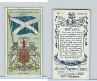 P72-29 Player, Countries Arms & Flags, 1912, #17 Scotland