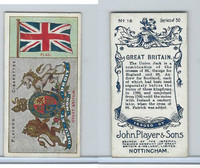 P72-29 Player, Countries Arms & Flags, 1912, #18 Great Britain