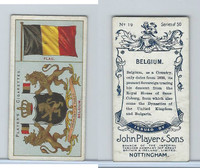 P72-29 Player, Countries Arms & Flags, 1912, #19 Belgium