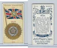 P72-29 Player, Countries Arms & Flags, 1912, #20 India