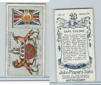 P72-29 Player, Countries Arms & Flags, 1912, #21 Cape Colony