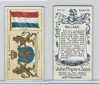 P72-29 Player, Countries Arms & Flags, 1912, #22 Holland