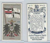 P72-29 Player, Countries Arms & Flags, 1912, #23 Germany