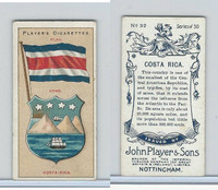 P72-29 Player, Countries Arms & Flags, 1912, #32 Costa Rica