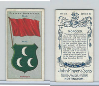 P72-29 Player, Countries Arms & Flags, 1912, #33 Morocco