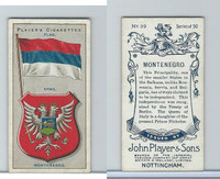 P72-29 Player, Countries Arms & Flags, 1912, #39 Montenegro
