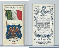 P72-29 Player, Countries Arms & Flags, 1912, #40 Mexico