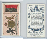 P72-29 Player, Countries Arms & Flags, 1912, #43 Wurtemburg