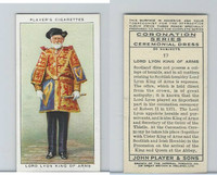 P72-157 Player, Coronation, 1937, #17 Lord Lyon King of Arms