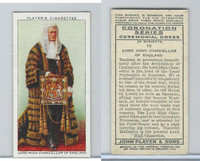 P72-157 Player, Coronation, 1937, #19 Lord High Chancellor of England