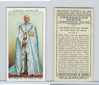 P72-157 Player, Coronation, 1937, #25 Order of the Star of India