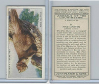P72-153 Player, Animals of Countryside, 1939, #14 Pine Marten