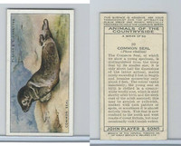 P72-153 Player, Animals of Countryside, 1939, #20 Common Seal