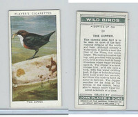 P72-142 Player, Wild Birds, 1932, #10 The Dipper