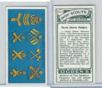 O2-94 Ogdens, Boy Scouts, 1914, #201 Naval Sleeve Badges