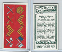O2-94 Ogdens, Boy Scouts, 1914, #211 Soldiers Sleeve Badges