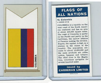C18-0 Carreras, Flags All Nations, 1960, #13 Columbia