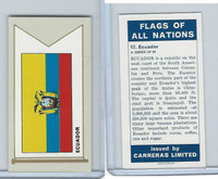 C18-0 Carreras, Flags All Nations, 1960, #17 Ecuador