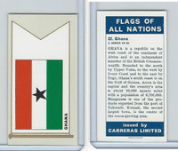 C18-0 Carreras, Flags All Nations, 1960, #22 Ghana