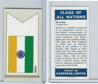 C18-0 Carreras, Flags All Nations, 1960, #26 India