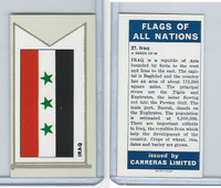 C18-0 Carreras, Flags All Nations, 1960, #27 Iraq