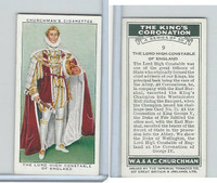 C82-60 Churchman, Kings Coronation, 1937, #9 The Lord High Constable