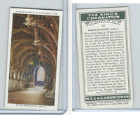 C82-60 Churchman, Kings Coronation, 1937, #10 Westminster Hall