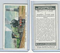 C82-92 Churchman, Won. Rail Travel, 1937, #4 Romney, Hythe Railway, Kent