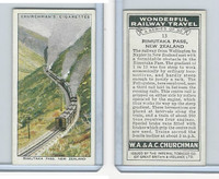 C82-92 Churchman, Won. Rail Travel, 1937, #13 Rimutaka Pass, New Zealand