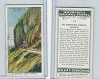 C82-92 Churchman, Won. Rail Travel, 1937, #14 In Espirito Santo, Brazil
