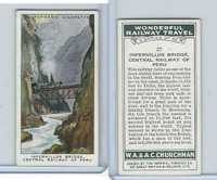 C82-92 Churchman, Won. Rail Travel, 1937, #27 Infernillos, Central Rail Peru