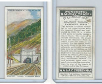 C82-92 Churchman, Won. Rail Travel, 1937, #30 Somport Tunnel, Pyrenees, Spain