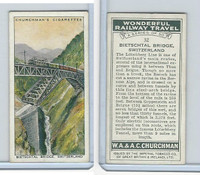 C82-92 Churchman, Won. Rail Travel, 1937, #32 Bietschtal Bridge, Switzerland