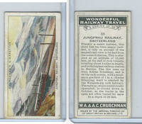C82-92 Churchman, Won. Rail Travel, 1937, #33 Jungfrau Railway, Switzerland