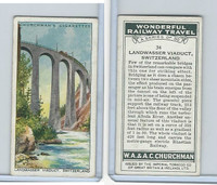 C82-92 Churchman, Won. Rail Travel, 1937, #34 Landwasser Viaduct, Switzerland