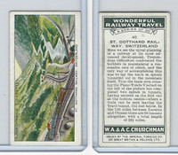 C82-92 Churchman, Won. Rail Travel, 1937, #40 St. Gotthard Railway, Switzerland