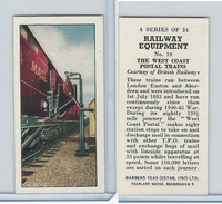 B0-0 Barbers Tea, Railway Equipment, 1958, #10 The West Coast Postal Trains