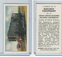 B0-0 Barbers Tea, Railway Equipment, 1958, #11 Diesel-Electric Shunting Loco