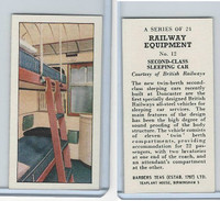B0-0 Barbers Tea, Railway Equipment, 1958, #12 Second-Class Sleeping Car