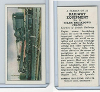 B0-0 Barbers Tea, Railway Equipment, 1958, #14 Steam Breakdown Cranes