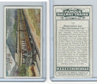 C82-48 Churchman, Famous Railway Trains, 1929, #12 Continental